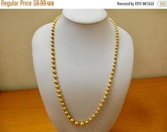 On Sale MARVELLA Graduated Golden Faux Pearl Necklace Item K # 2528