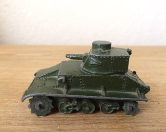 Vintage DINKY Die Cast Tank, Toy Military Tank/Personnel Carrier