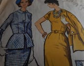 Vintage 1950's McCall's 5066 Suit or Jacket Dress Sewing Pattern, Size 12 Bust 32