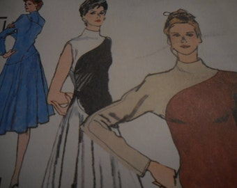 Vintage 1970's, 80's Simplicity 9403 Couturier Designer Richard Assatly Dress Sewing Pattern, Size 12 Bust 34