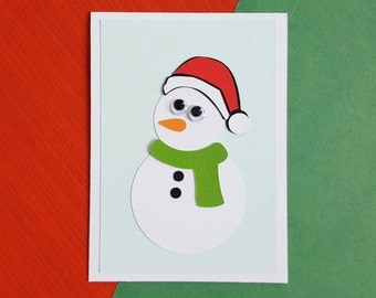 snowman card-making kit - makes 10 mini- cards