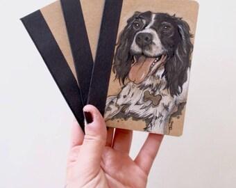 NEW! Pet Portrait Mini Sketchbooks - Caricature - Custom Stationary - Dog  - Cat - Pet Portrait