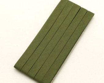 Cotton Candy Series Folded Cotton Bias in Olive Green - 3 Yards 92897