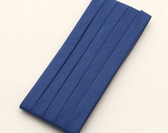 Cotton Candy Series Folded Cotton Bias in Navy - 3 Yards 92900