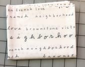 Timeless Treasures - FAT QUARTER cut of Neighborhood by Alison Beaton - Words - 41283-3 in white