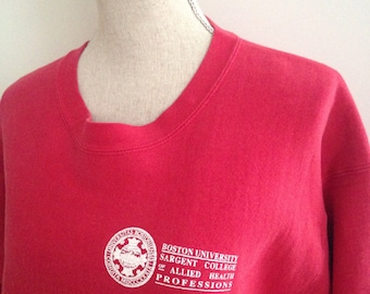 Vintage Boston University Sargent College Physical Therapy Sweatshirt