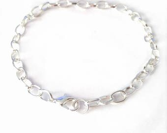 12 sets of silver finish bracelet making with lobster clasps-OFF239
