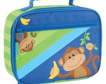 Personalized Stephen Joseph Monkey Lunch Box