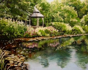 Reflections VII Summer  original artwork oil painting