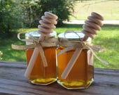 Raw Honey Wedding Favors 5oz Jars 12 Edible Raw Honey Favors Golden Wedding Favors Tennessee Wildflower Reception Honey Wedding Gift
