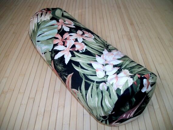 Tropical Print Bolster Pillow Meditation Prop Home Decor