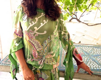 Devoured chiffon embroidered sequin tunic