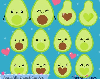 INSTANT DOWNLOAD - Avocado Clipart and Vectors for personal and commercial use
