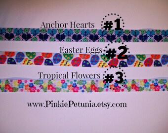 Foldover Elastic - FOE - Anchor Hearts - Easter Eggs - Tropical Flowers