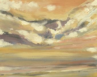 Pacific Mini Sunset #1- Original Acrylic Painting