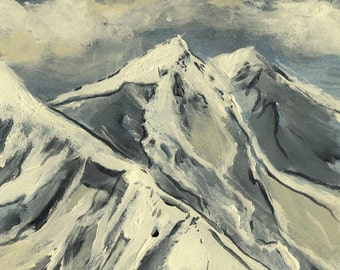 Mountain in Blues - Original Acrylic Painting