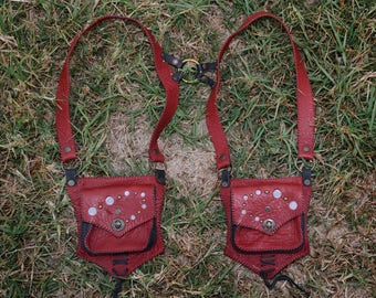 red and black holster