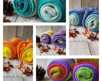 sock blank, hand dyed sock blank, purple yarn, green yarn, blue yarn, yellow yarn, DK sock blank, gradient sock blank, sock knitting, socks.