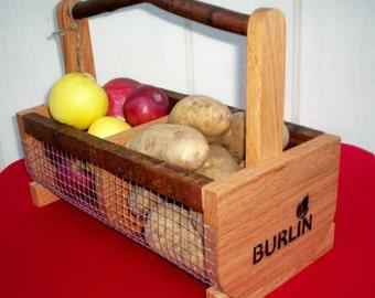 Garden Basket, Storage Basket,Gardening Basket, Hod Basket, Picnic Basket, Medium Size Bin
