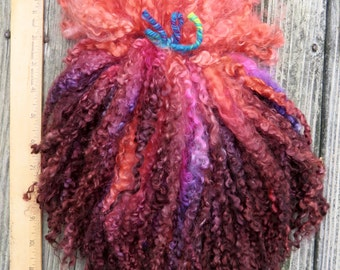 Teeswater Locks, Extra Long, Dyed, Tailspinning, Extreme, Doll Hair, Spin, Felt, Fleece, Nail Polish