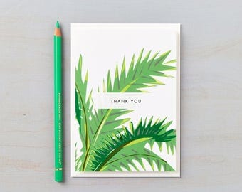 Tropical Design Thank You cards