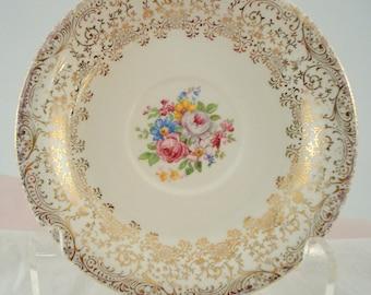 Vintage Saucer Royal China Rose Glory Pattern Pink Rose Saucer Dessert Plate Vintage Wedding