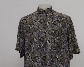90's Paisley Pattern Shirt