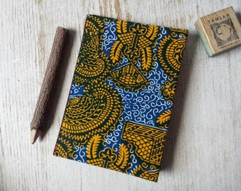 Small Hardcover African print Journal Notebook Sketchbook Jotter - A6 - cartridge paper - 90 pages 140 gsm