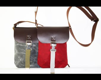 His and Hers Waxed Canvas and leather travel bag - pouch - small bag - TMB100