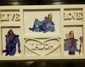 SALE! Live Laugh Love Skeletor Photo Picture Frame - Masters of the Universe