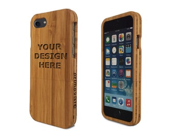 Personalized Bamboo Wood iPhone 7 case (Email us your design for Engraving)