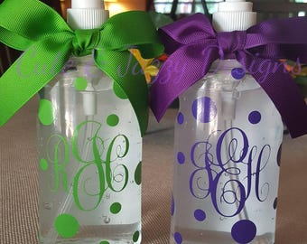 Personalized Sanitizer Bottle