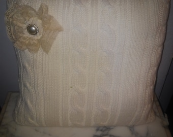 Sweater Pillow, shabby chic, cottage