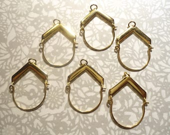 6 Goldplated Charm Holders