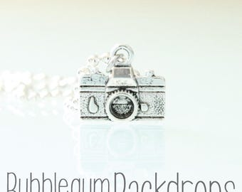 Vintage Camera Charm Necklace