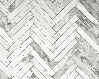 Chevron Wood - Vinyl Photography  Backdrop Photo Prop