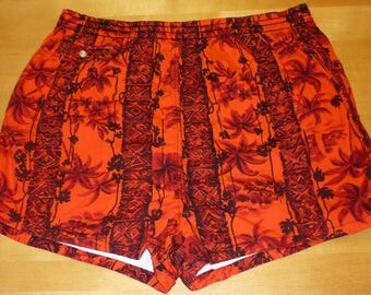 1950s Swim Trunks / M - L - XL / 50s Swim Trunks / Hawaiian Swim Trunks / Tiki / Aloha / Hawaiian / 1960s Swim Trunks / 60s Swim Trunks