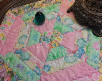 Easter Candle Mat/Spring Bunnies/Eggs