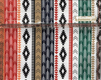 EcoBagIt! : NATIVE AMERICAN BLANKET Reg - Keep Fresh Reusable Sandwich Bags