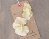 Vintage Ivory Hydrangea Hair Pins Wedding Hair Accessorise