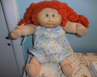 Vintage  1980s Cabbage Patch Red Head Kid Doll