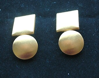"""Circle and Square Earrings - """"Modern Vibe""""- SALE"""