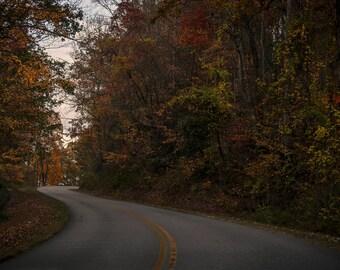 Blue Ridge Parkway Landscape Metal Print