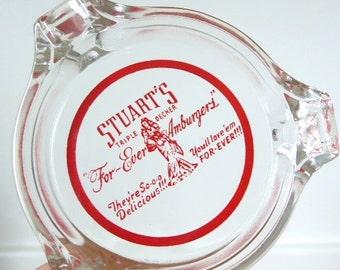 Stuart's For-Ever Hamburgers ashtray, Stuart's Triple Decker