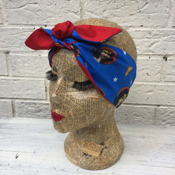 Wonder Woman Headscarf Retro Rockabilly Pinup
