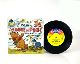Disney's Winnie the Pooh and the Blustery Day Book and Record 1978