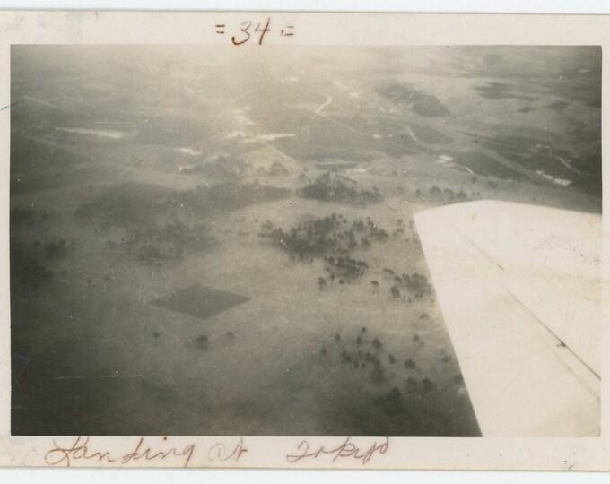 """Vintage Snapshot Photo: """"Landing at Tokyo"""" (71540)"""