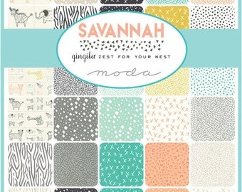 NEW - Savannah Charm Pack by Gingiber for Moda