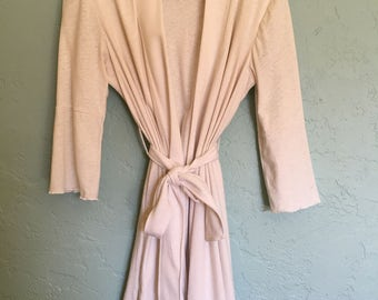 Eco Friendly Hemp Jersey Robe w/ Bell Sleeves