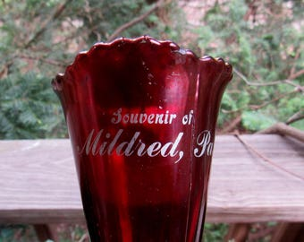 ruby souvenir goblet from mildred pa
